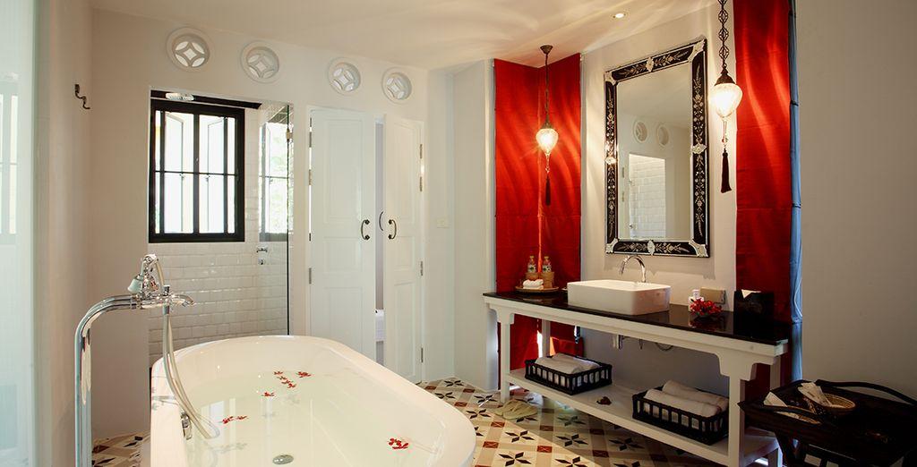 Een luxueuze badkamer