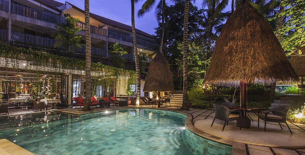 Waar u kunt ontspannen in het zwembad...