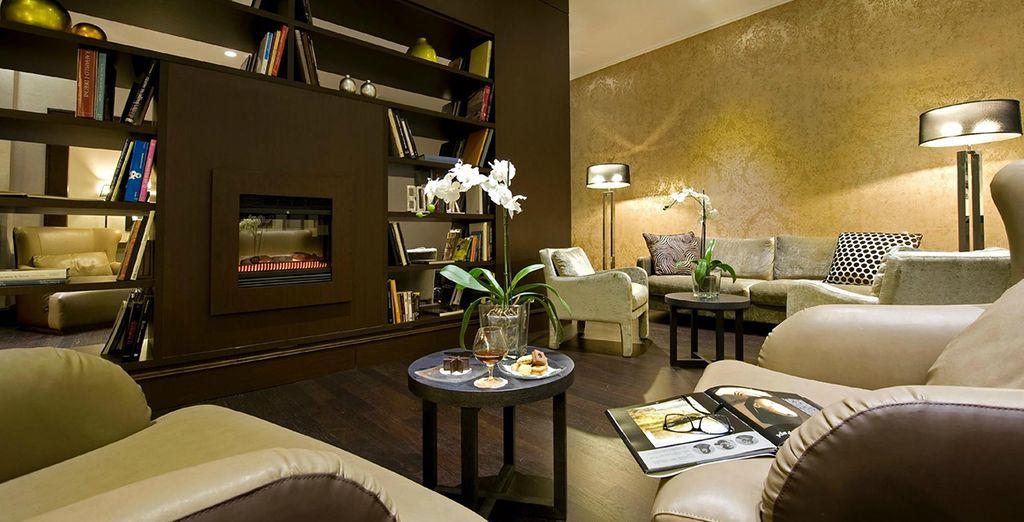 Het hotel is elegant en gezellig ingericht
