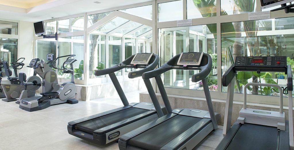 Maak gebruik van de fitnessruimte