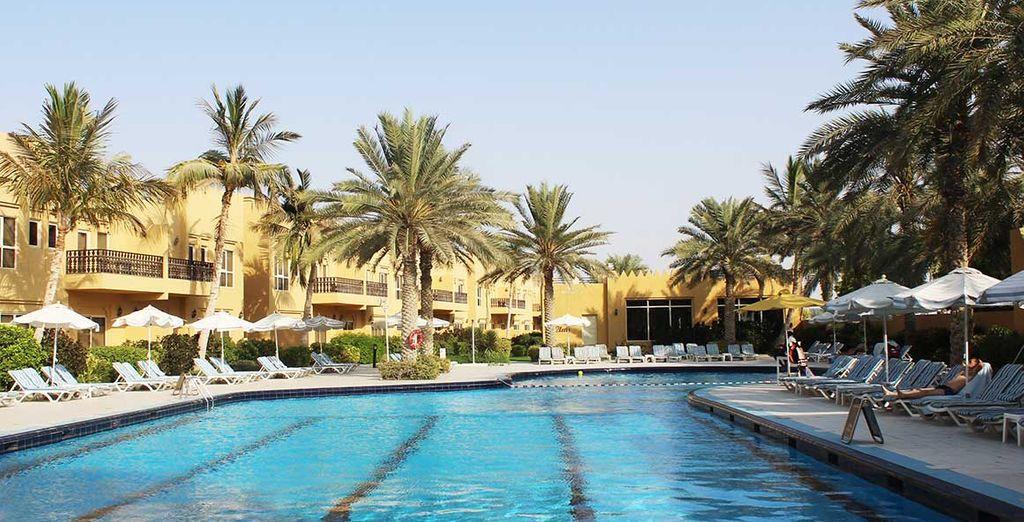 Gelegen tussen de Perzische Golf en de stranden van Ras Al Khaimah