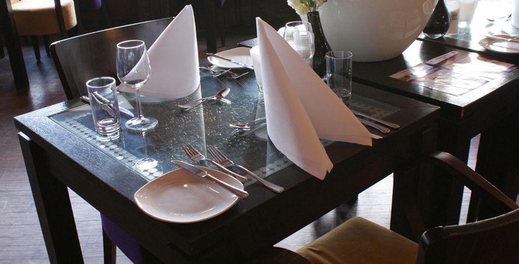 Profiteer nu van een gratis 2-gangendiner in het restaurant van het hotel