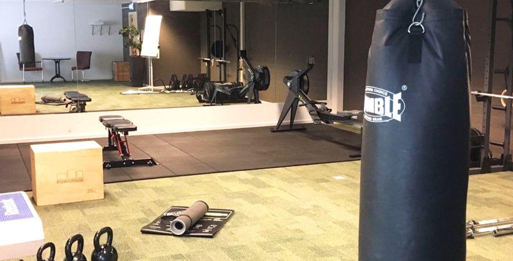 Ook tijdens uw vakantie kunt u zich lekker uitleven in de fitnessruimte