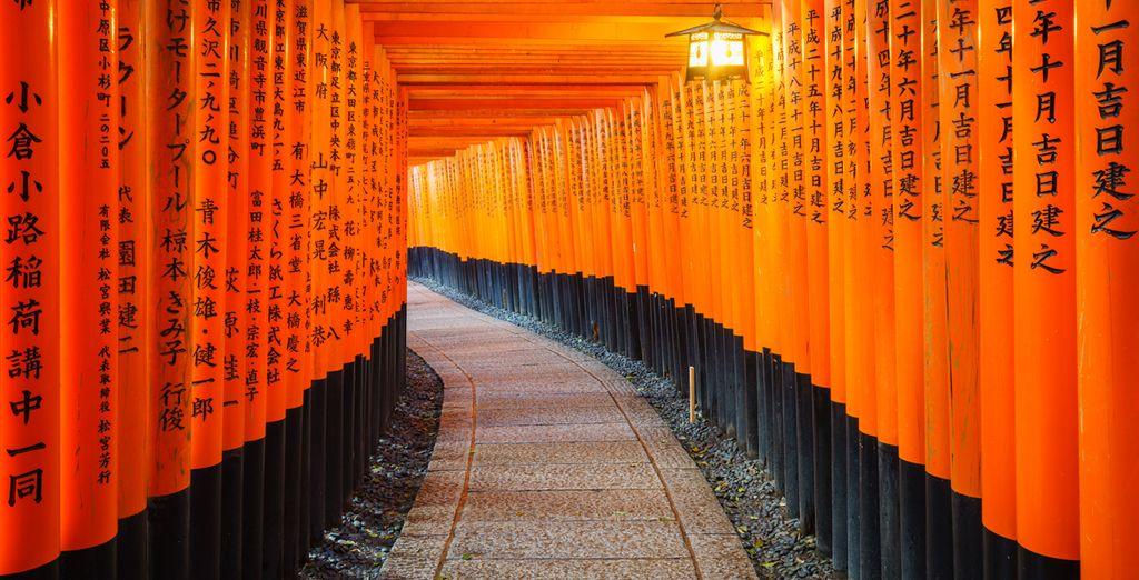 Voor u door gaat naar Kyoto