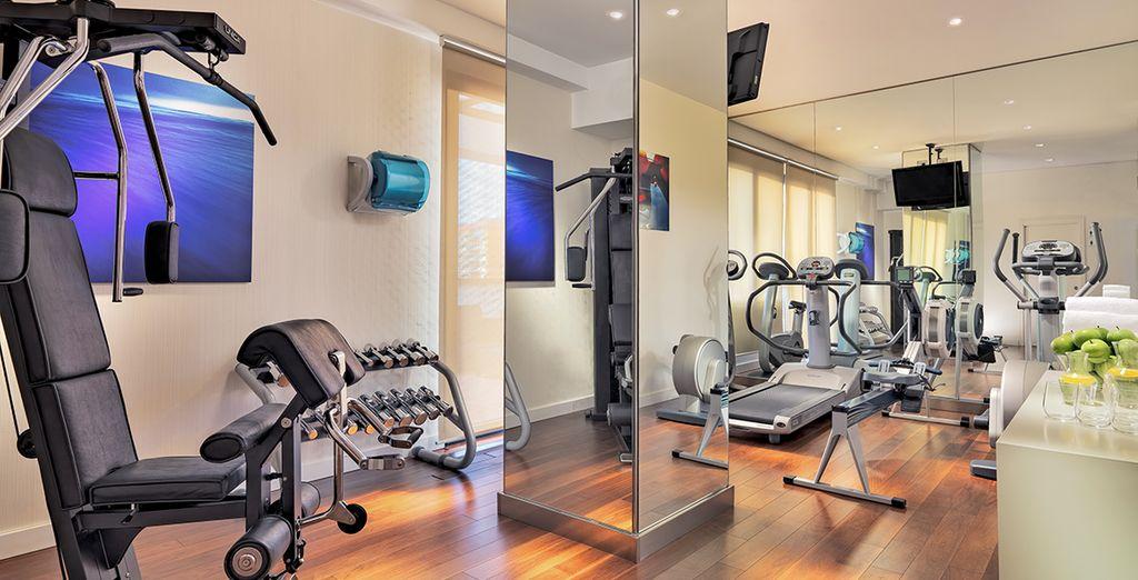 Blijf in vorm in de fitnessruimte