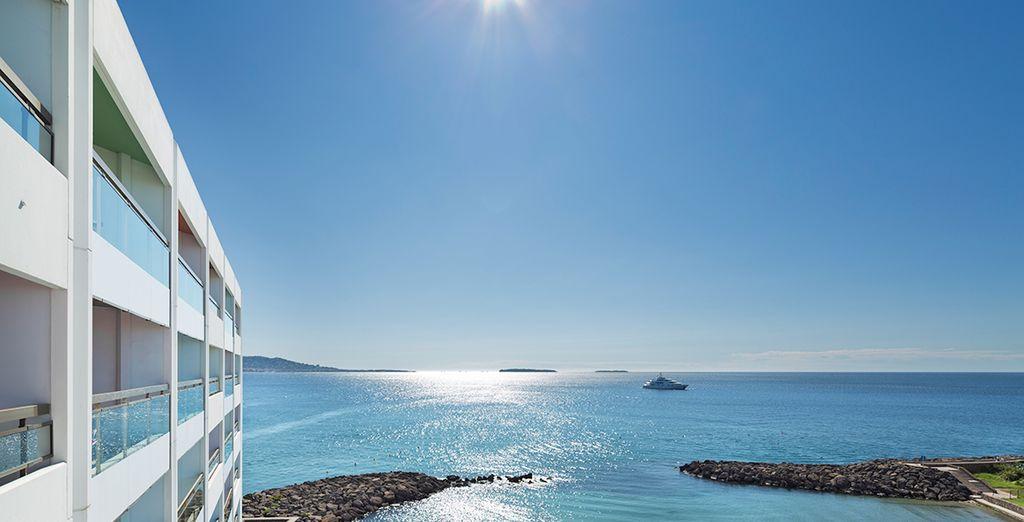 En een panoramisch uitzicht op zee