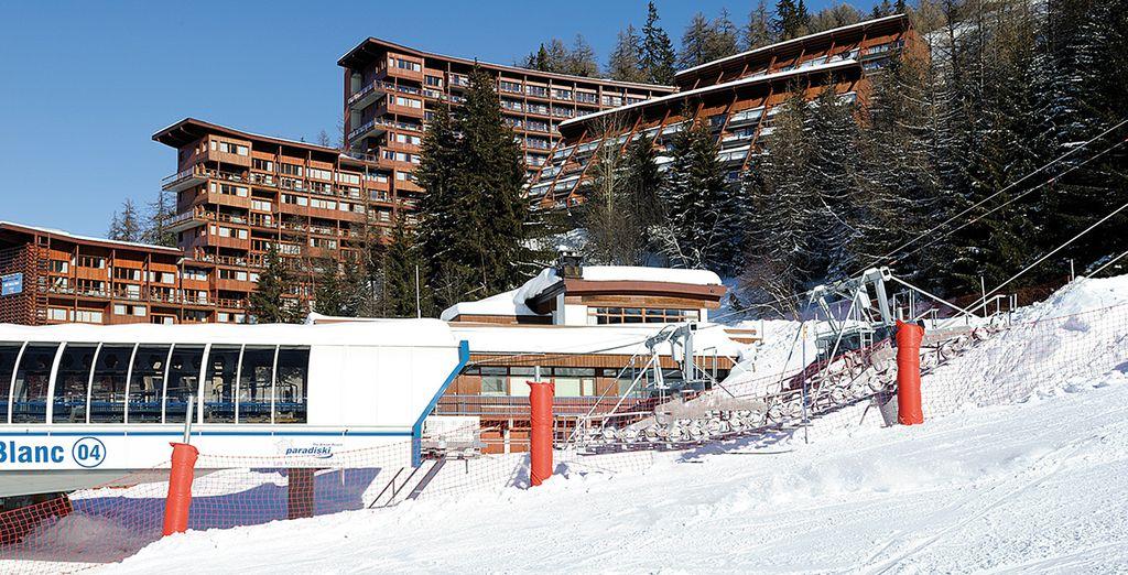 U logeert aan de voet van het skigebied Paradiski