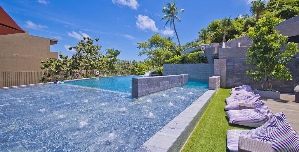 En een verfrissende duik in het prachtige zwembad