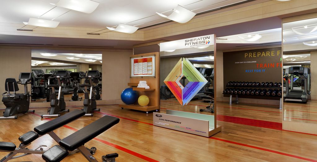 U kunt ook gebruik maken van de fitnessruimte