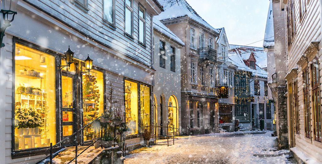 Bergen zelf is een gezellig en charmant stadje