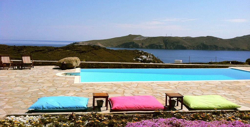 Uitzicht over de Egeïsche Zee