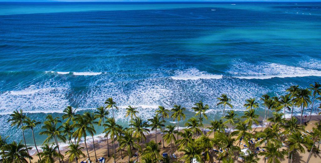 Zonnebaden op het strand...