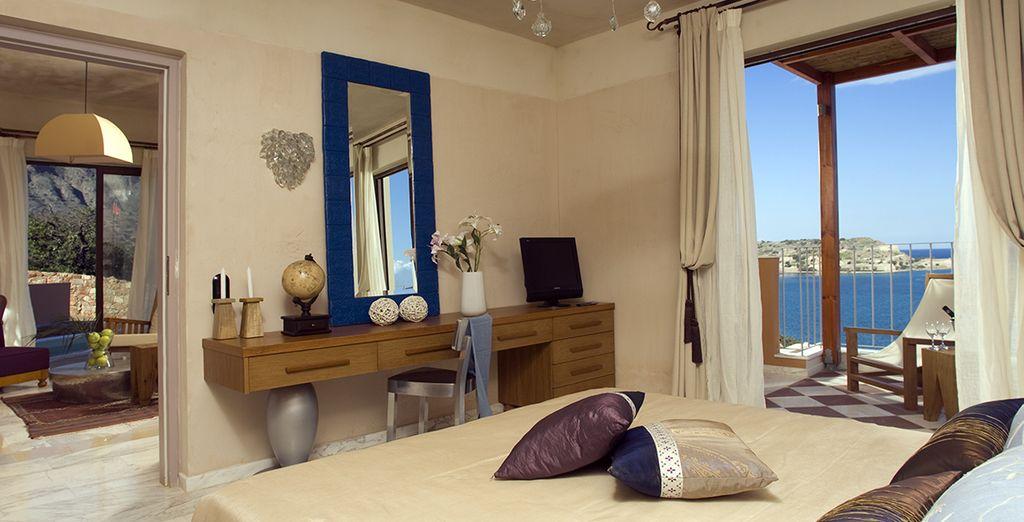 Comfortabel in een mooie ruime Premium Suite met zeezicht