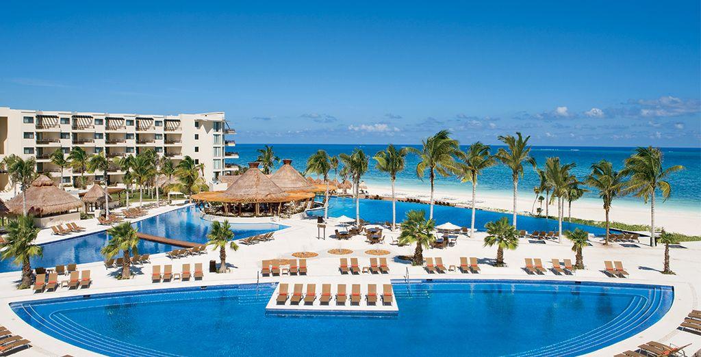 U verblijft in het Dreams Riviera Cancun Riviera...