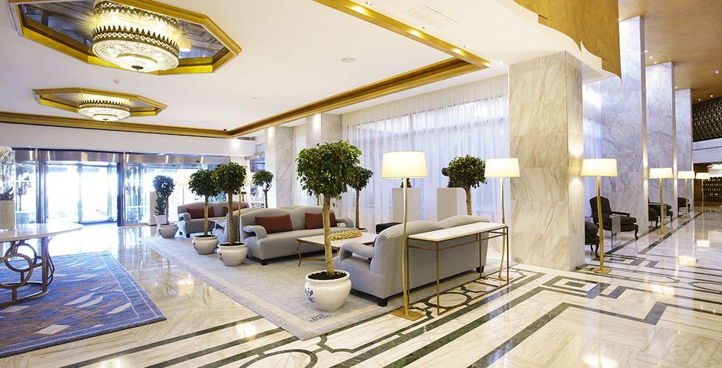 Een luxueus en modern hotel