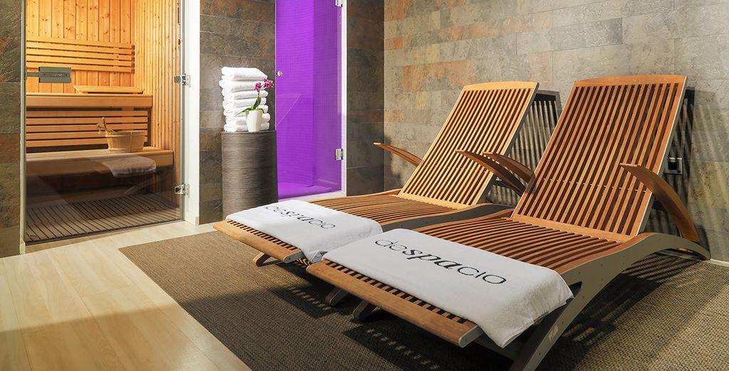 Of in de sauna