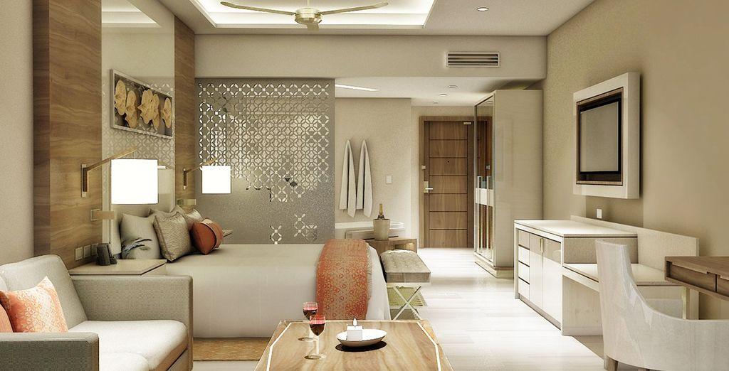 U krijgt de keuze tussen een Luxury Junior Suite of een Luxury Suite Diamond Club