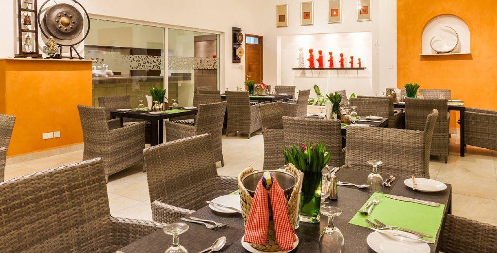 Dineer in het restaurant