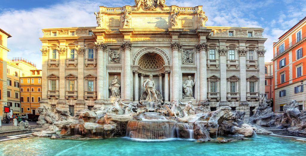 En gooi een muntje in de Trevi-fontein