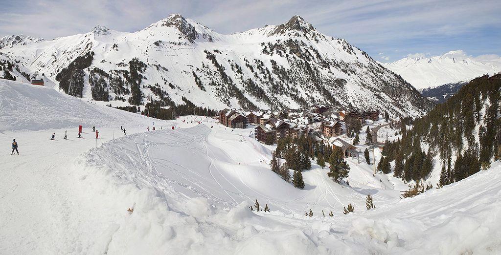 In het hart van het skigebied Paradiski... Fijne vakantie!