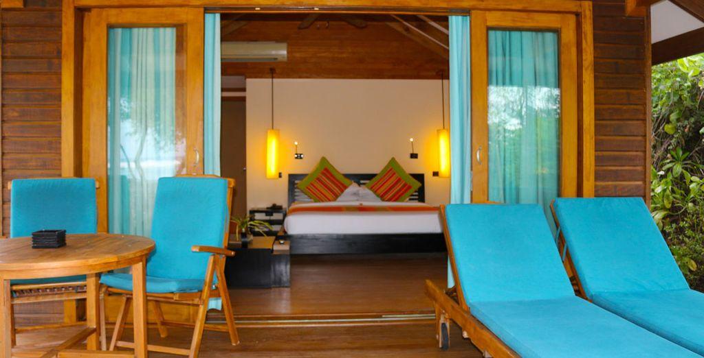 U kunt kiezen uit de Sunrise Villa...
