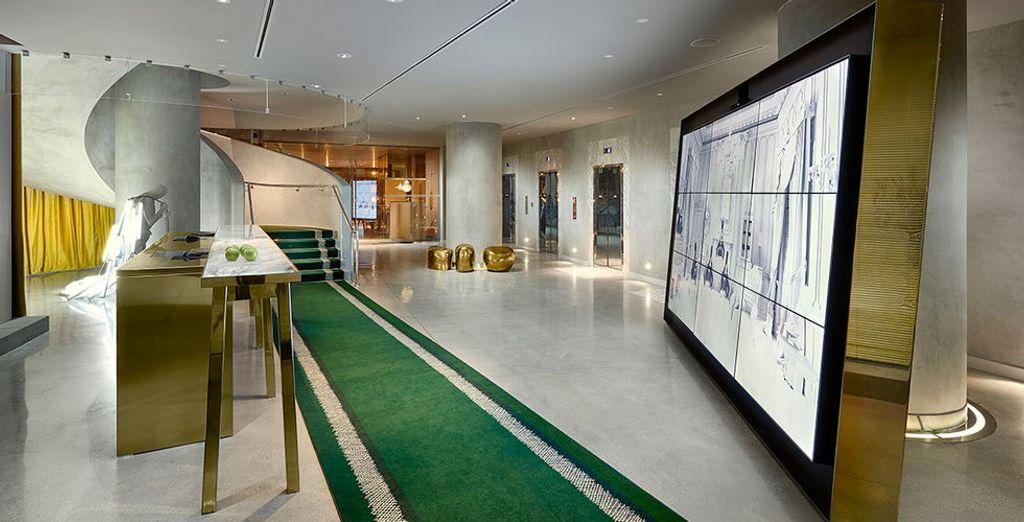 Laat u charmeren door het unieke design van het hotel