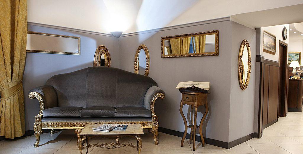 Geniet van de historische sfeer in dit elegante hotel