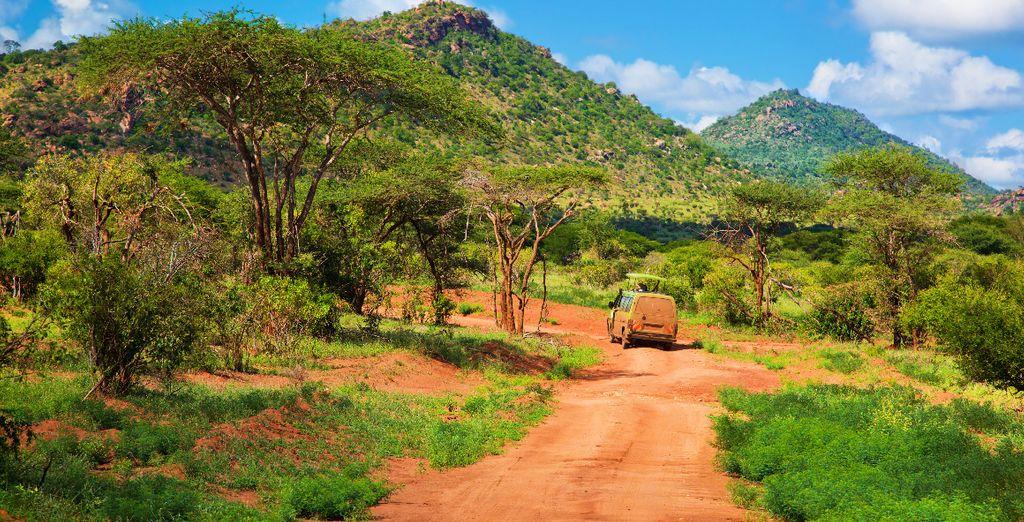 De rode aarde van Tsavo Est