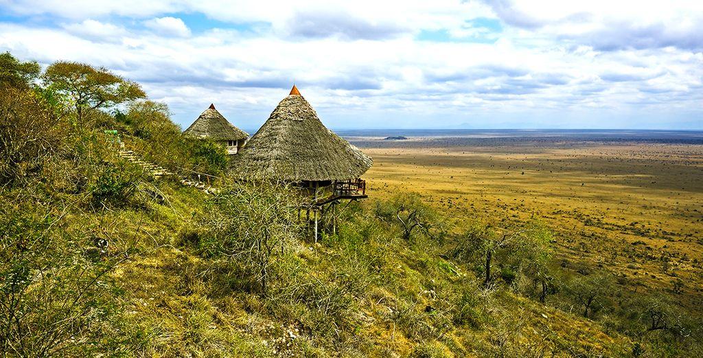 Het uitzicht bij Ngutini