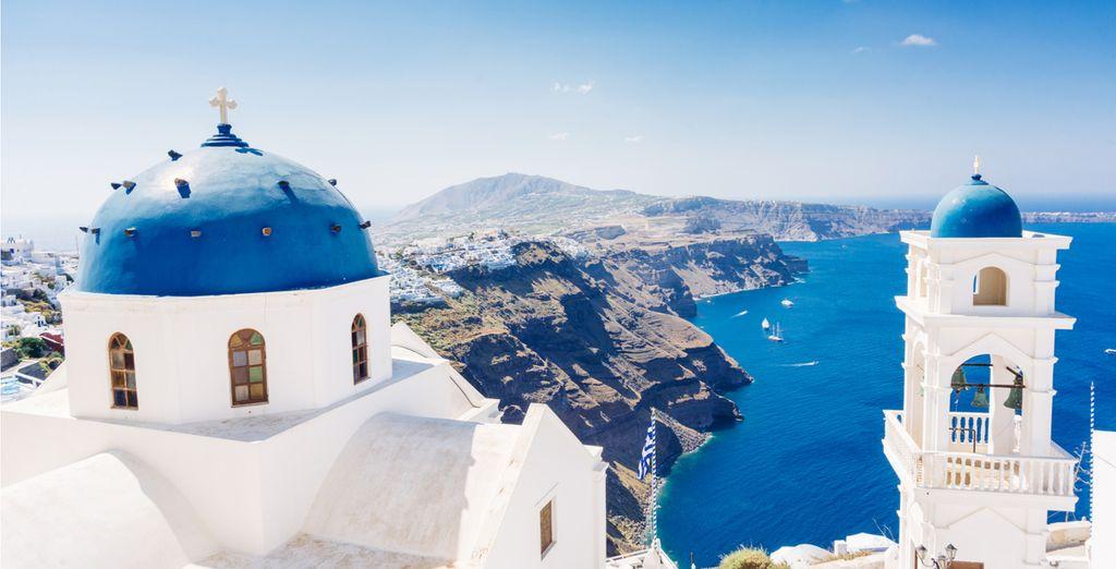 In het prachtige Santorini
