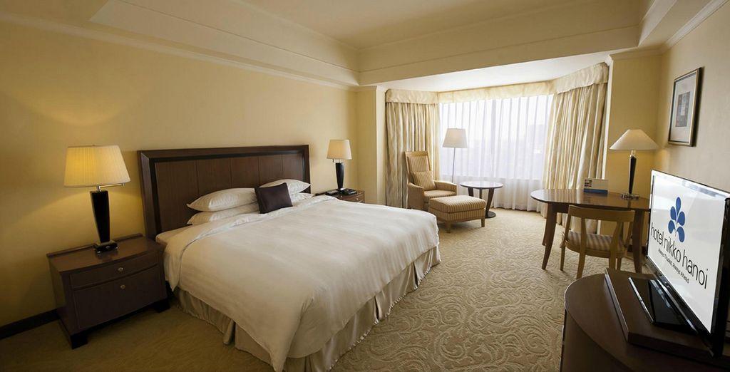 In comfortabele en moderne kamers (Nikko Hotel)