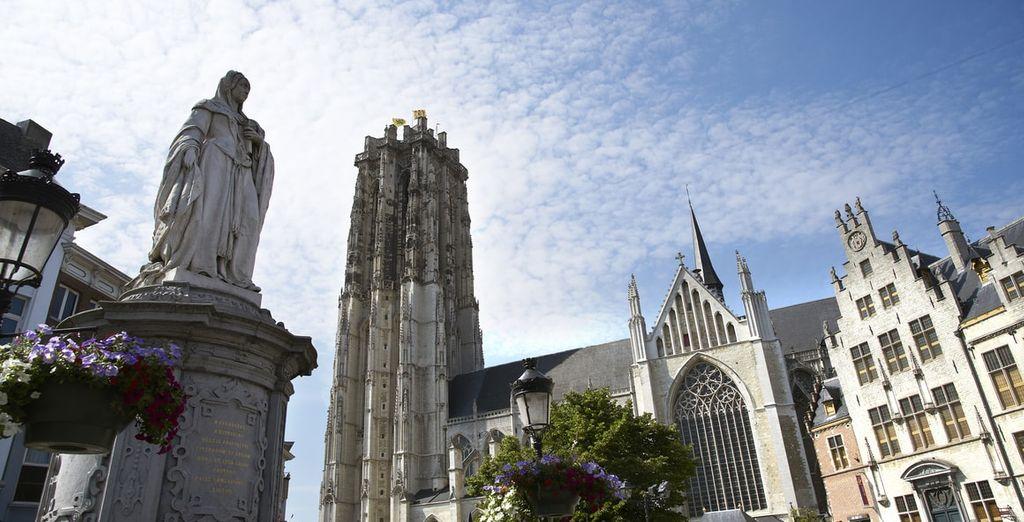 In het historische stadscentrum van Mechelen