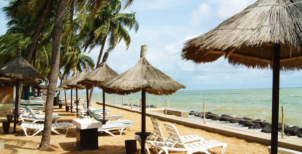 Aan het strand van Senegal