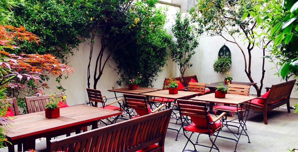 Or if you prefer you can relax in the hotel's secluded courtyard