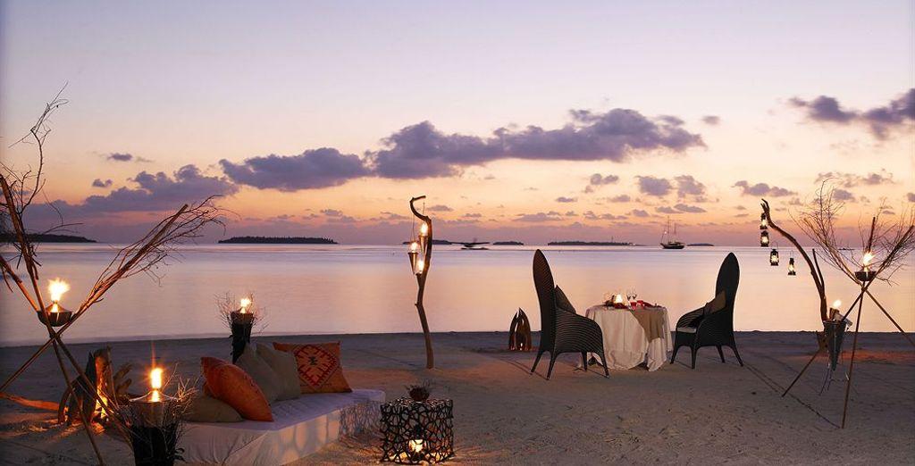 As the sun sets, make your way to one of the resort's restaurants