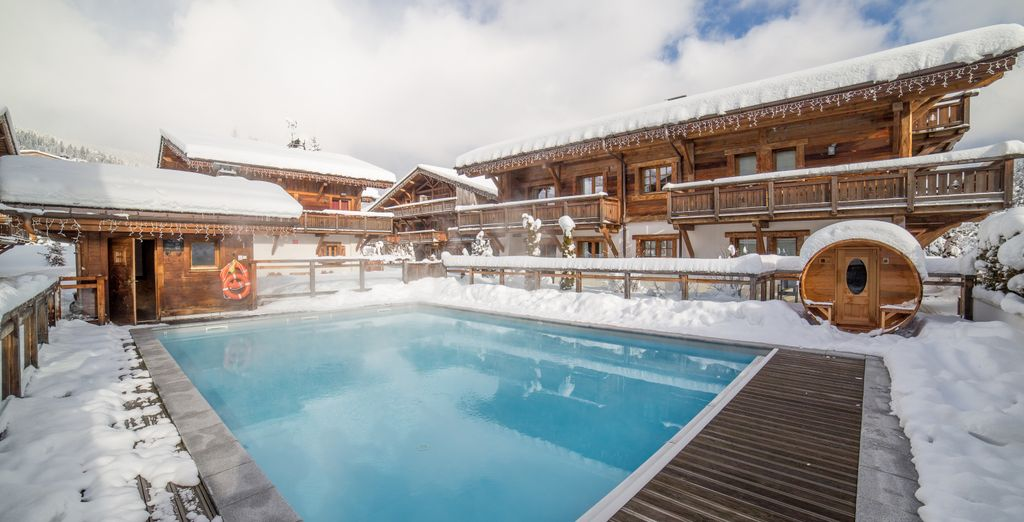 Take a dip in the heated outdoor pool