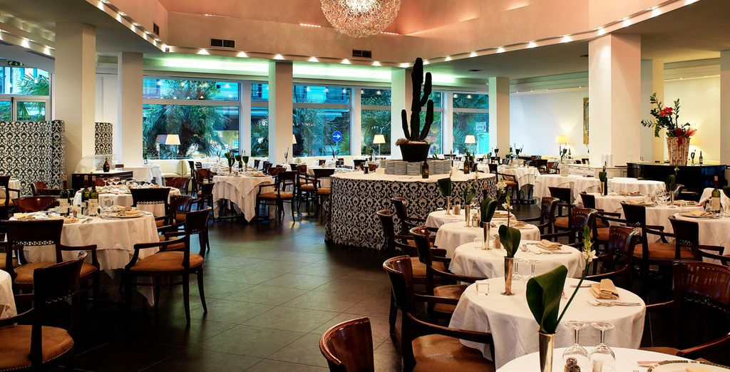 Dine on freshly prepared cuisine in the hotel's atmospheric restaurant