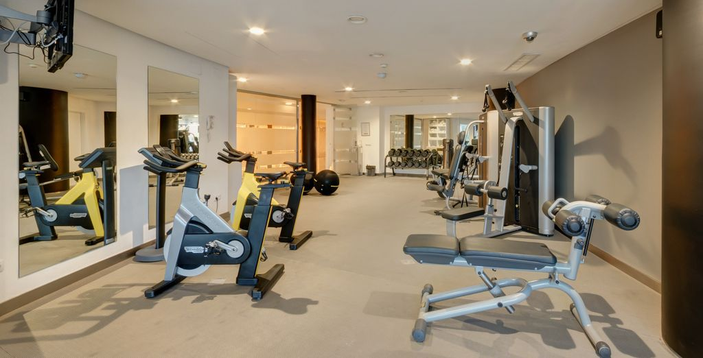 And there is a fitness centre that will satisfy even the most discriminating athletes