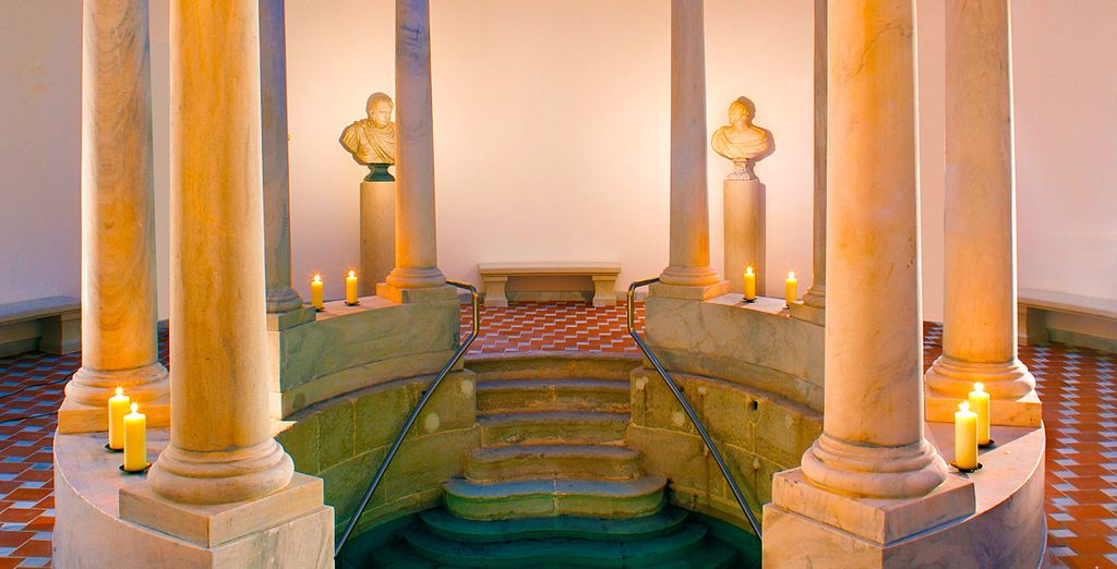 Immerse yourself in spa waters