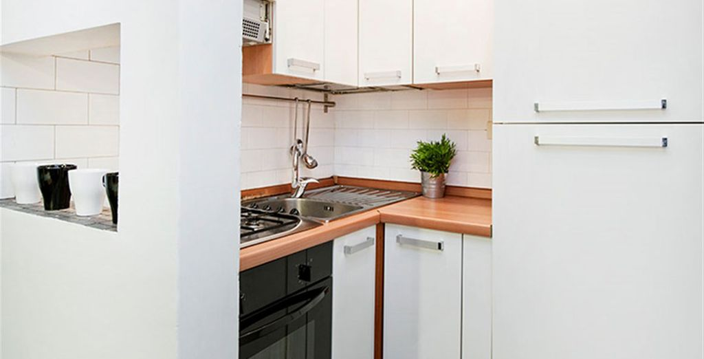 Apartment 7: Well-equipped kitchen