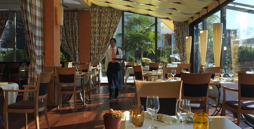 Take a gourmet break at the restaurant