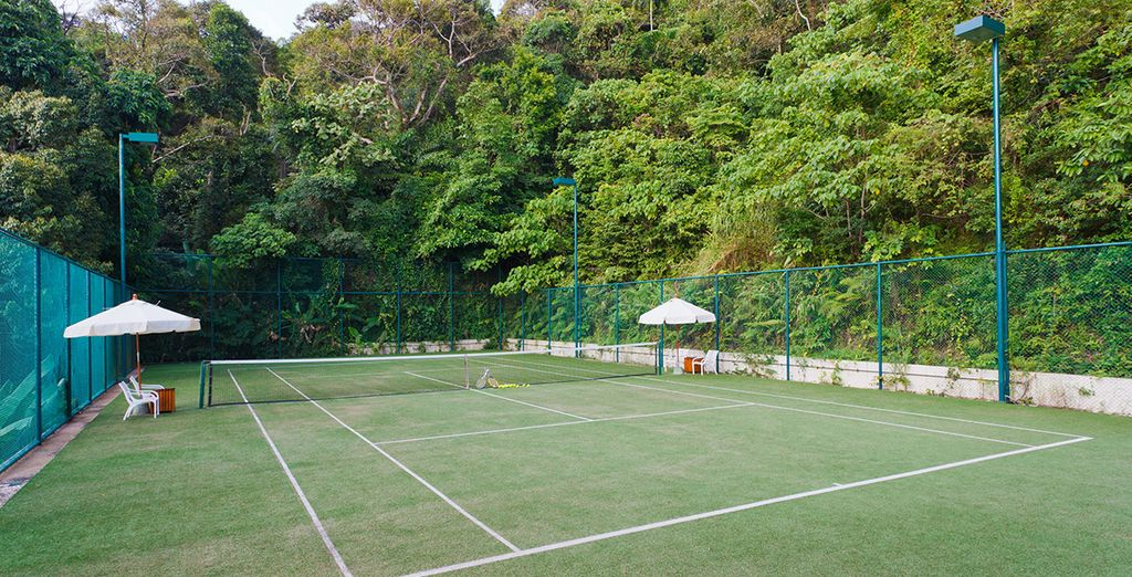 Challenge yourself to a game of tennis