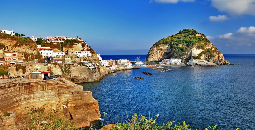 Explore the dramatic and rugged coastlines of Ischia