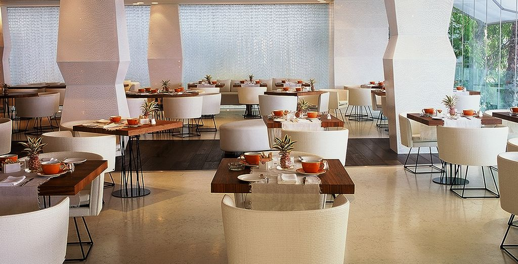 Treat yourself to a delicious meal in the Caprice restaurant