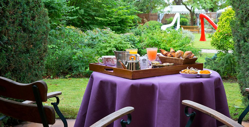 Enjoy a daily breakfast on the sun-drenched terrace