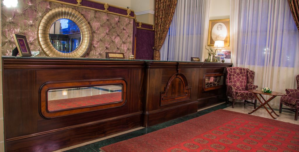 Check in to your 4* hotel with its classic decor