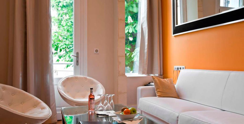 The Suite Margaux has been furnished by Starck Wall