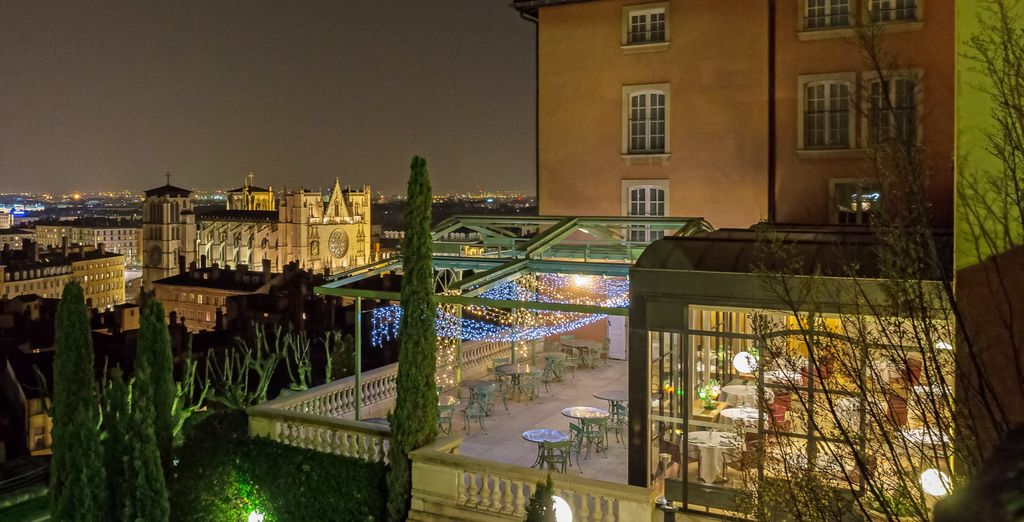 Offering incredible views of Lyon and historical district of Vieux Lyon