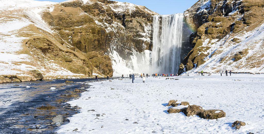 The waterfalls of Skogafoss