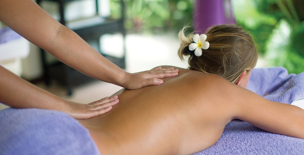 Or unwind at the hands of our trained masseuses in our garden spa
